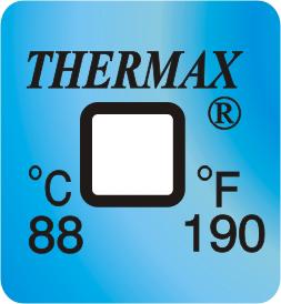 Nieodwracalne wskaźniki paskowe punktowe samoprzylepne temperatury